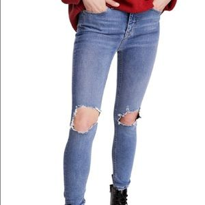 Free people skinny jeans 25 light gray